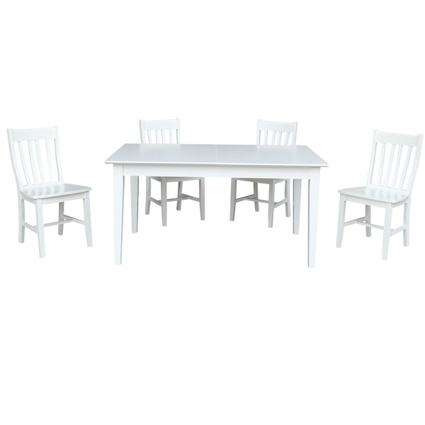 5 Piece Extendable Solid Wood Dining Set By Sedgewick Industries