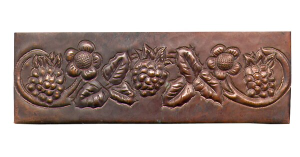 Grape Vine 6 x 2 Copper Border Tile in Dark Copper by D'Vontz