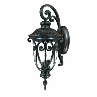 Best Reviews Appalachian 3-Light Outdoor Cast Aluminium Sconce By Astoria Grand