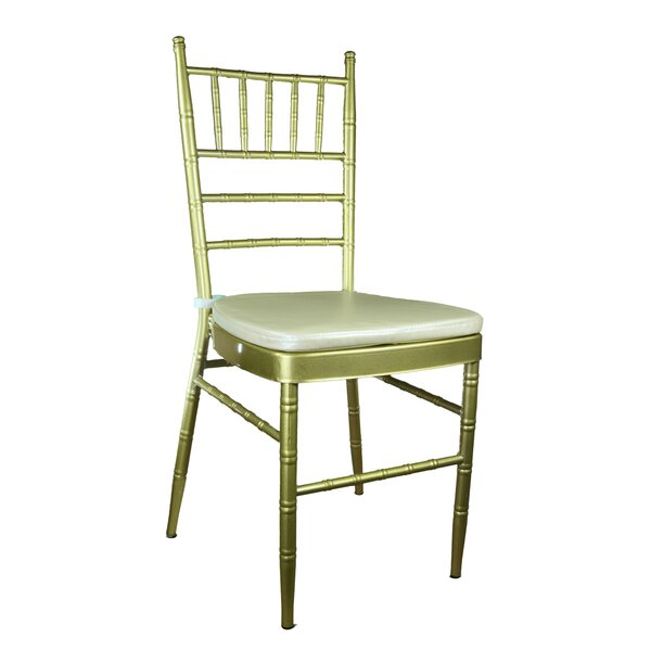 Bevilacqua Upholstered Metal Side chair by Bungalow Rose Bungalow Rose