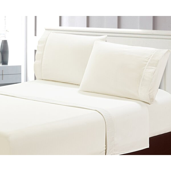 Vada Sleek Pleated Microfiber Bed Sheet Set by Gracie Oaks