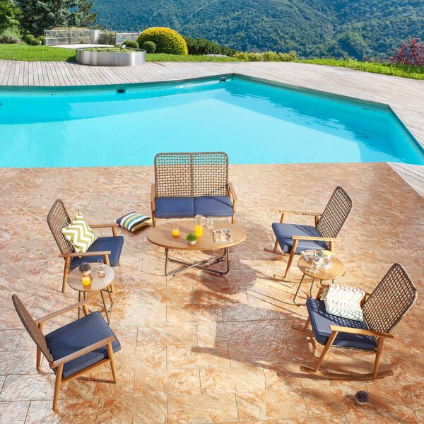 Harney 8 Piece Rattan Sofa Seating Group with Cushions by Bayou Breeze