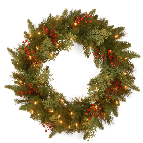 24 Lighted Wreath by National Tree Co.