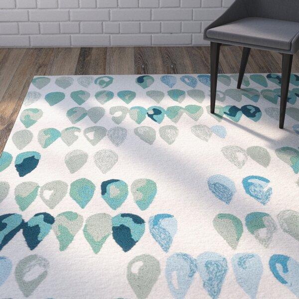 Heitz Ivory/Blue/Green Indoor/Outdoor Area Rug by Wrought Studio