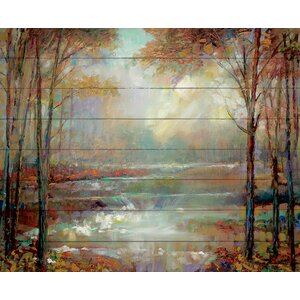 'Magical Spring Pallet' Painting Print on Wood by North American Art