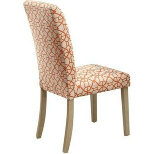 Bashaw Geometric Pattern Upholstered Dining Chair (Set of 2)