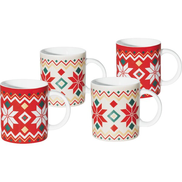 Winter Feelings Holiday 4 Piece Coffee Mug Set by Konitz