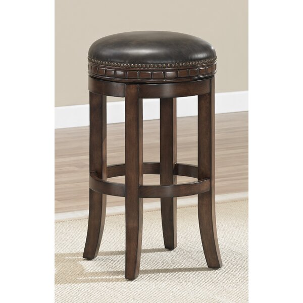 Bulwell 26 Swivel Solid Wood Bar Stool by Darby Home Co