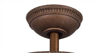 Ceiling Fan Down Rod in Tannery Bronze with Gold by Kichler