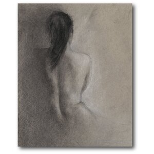 'Figure Drawing II' Painting Print on Wrapped Canvas by Courtside Market