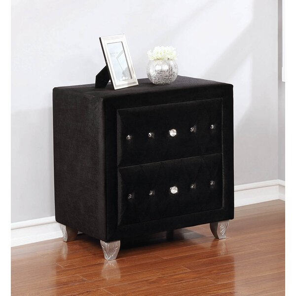 Burlingame 2 Drawer Nightstand by House of Hampton