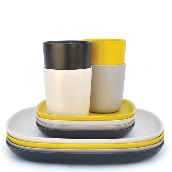 Canton 12 Piece Solid Color Dinnerware Set by Langley Street