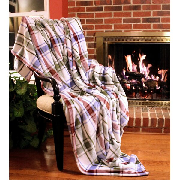 Bedside Comfort Flannel Polyester Throw Blanket by Tache Home Fashion
