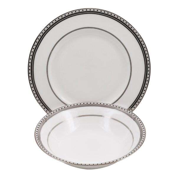 Classic Chablis Bone China 24 Piece Completer Set by Shinepukur Ceramics USA, Inc.
