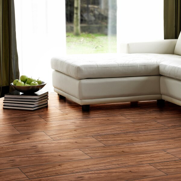 Flex Flor™ Looselay 9 x 48 x 0.20mm Cherry Vinyl Plank in Rustic Cherry by Achim Importing Co