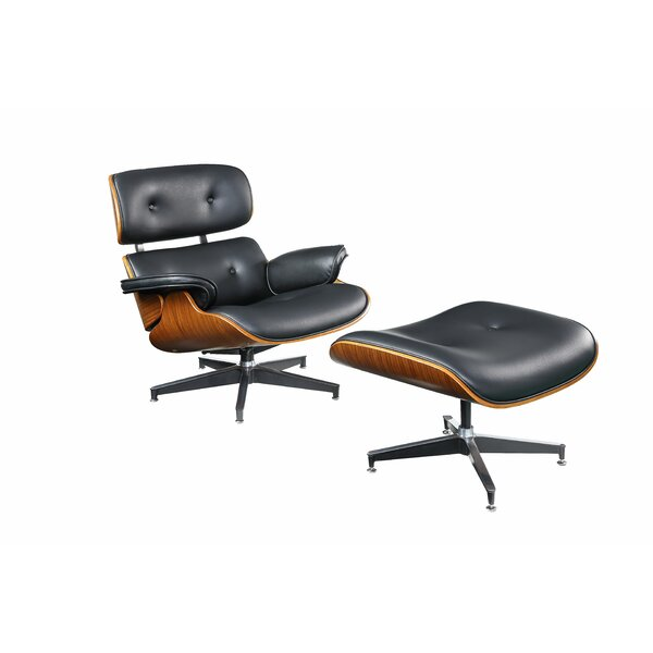 Geralyn Swivel Lounge Chair with Ottoman by Corrigan Studio