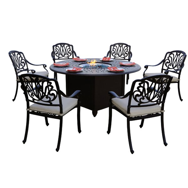 Burchfield 7 Piece Dining Set with Cushions by Canora Grey