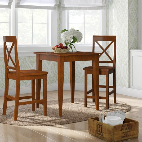 Haslingden 3 Piece Counter Height Pub Table Set by Three Posts Three Posts