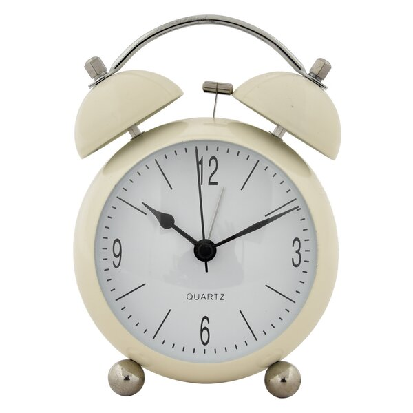 Metal Alarm Tabletop Clock by Canora Grey