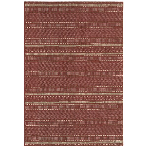 Luka Red Indoor/Outdoor Area Rug by Highland Dunes