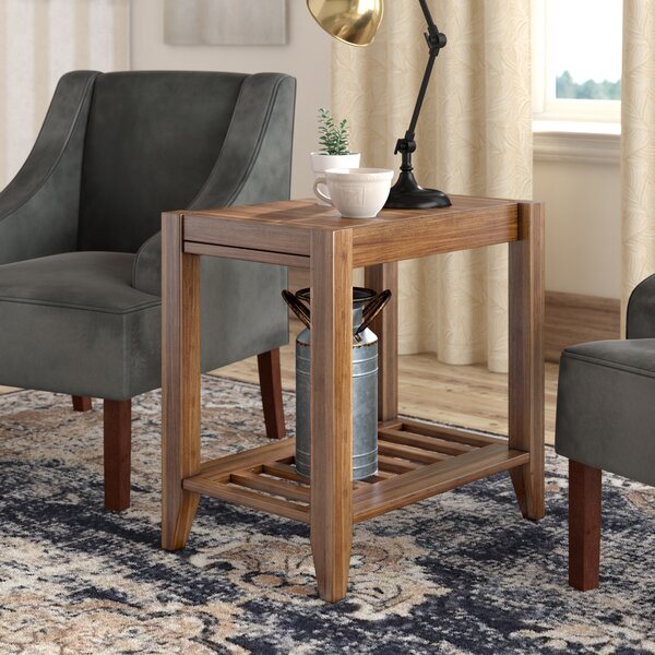 Athena Solid Wood End Table With Storage By Laurel Foundry Modern Farmhouse