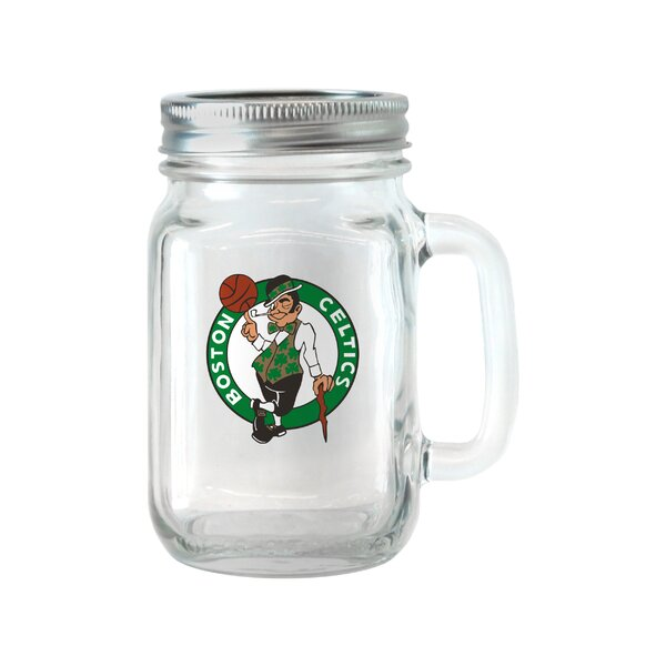 NBA Glass 16 oz. Mason Jar (Set of 2) by Boelter Brands