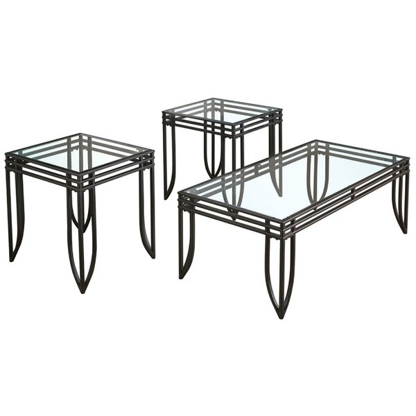 Messina 3 Piece Coffee Table Set By Wrought Studio