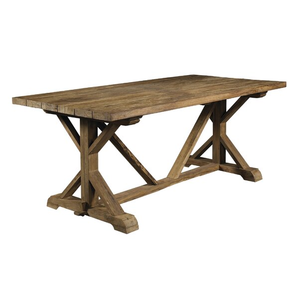 Wilfred Solid Wood Dining Table by Rosecliff Heights