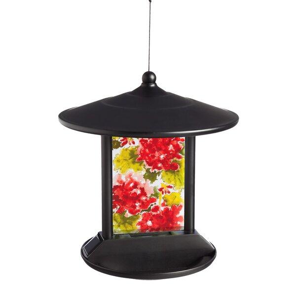 Floral Solar Tray Bird Feeder by Evergreen Flag & Garden