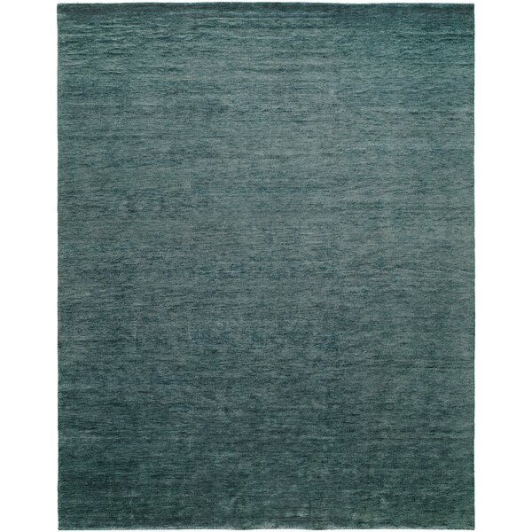 Decker Hand-Knotted Wool Blue Area Rug by Highland Dunes