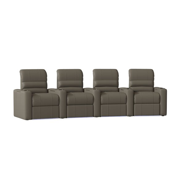 Waterfall Blue LED Home Theater Row Seating (Row Of 4) By Latitude Run