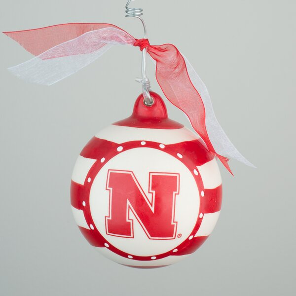 Nebraska Stripe Ball Ornament by Glory Haus