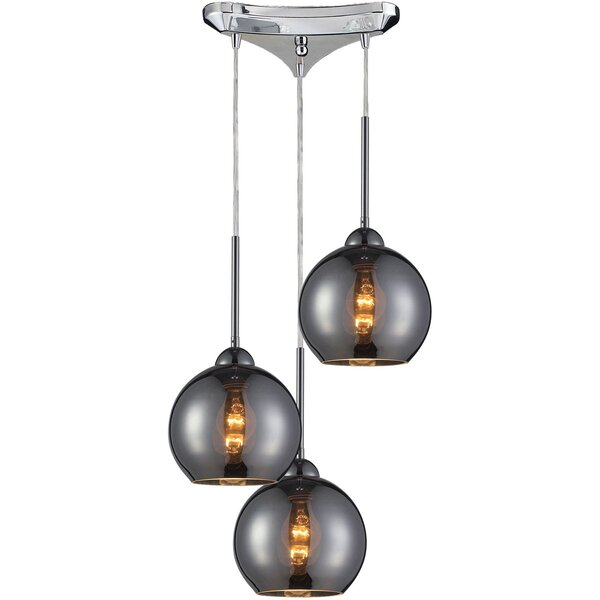 Delia 3-Light Cascade Pendant by Langley Street