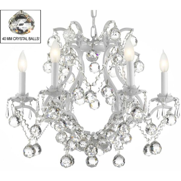 Alvarado 6-Light Candle Style Empire Chandelier with Crystal Accents Accents by Astoria Grand Astoria Grand