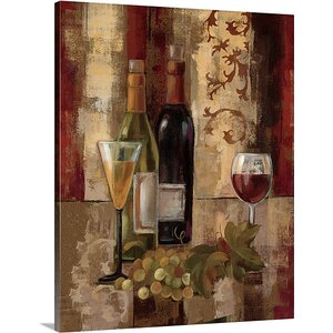 'Graffiti and Wine III' by Silvia Vassileva Painting Print on Canvas by Canvas On Demand