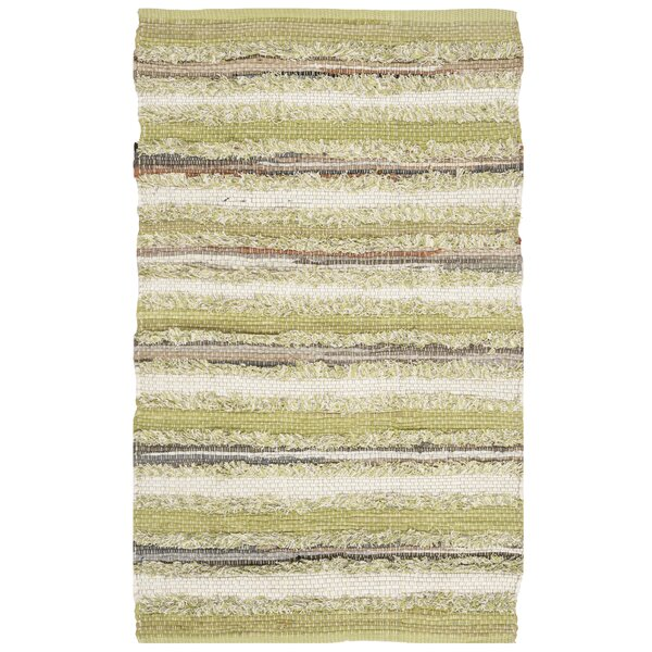 Bester Hand-Woven Cotton Green Area Rug by Bungalow Rose