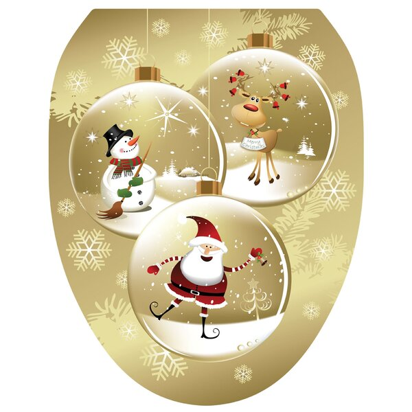 Snow Globes Toilet Seat Decal by Toilet Tattoos