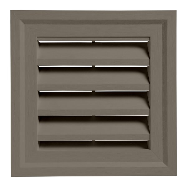 14 x 14 Plastic Square Louver Gable Vent by Ply Gem