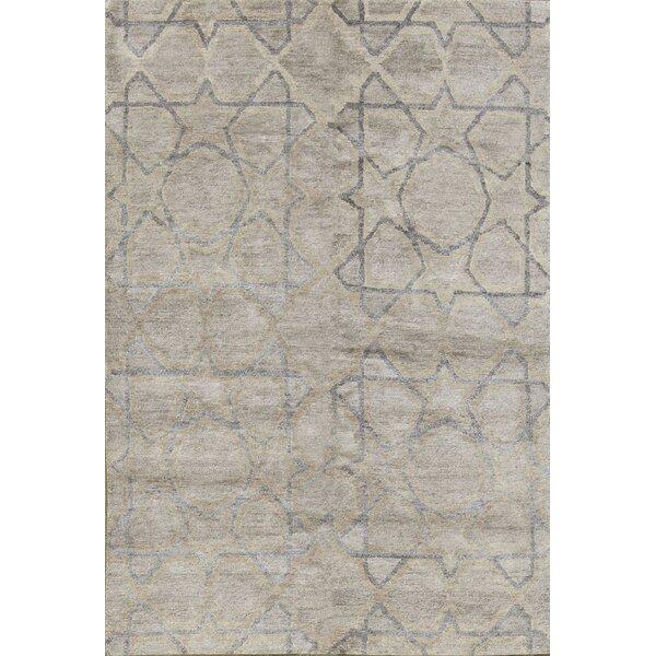 Modern Hand-Knotted Wool Brown Area Rug by Bokara Rug Co., Inc.