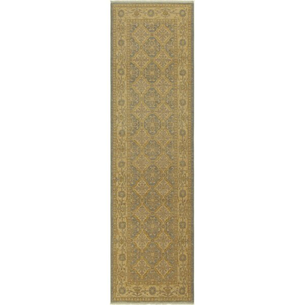 One-of-a-Kind Abbigail Hand-Knotted Wool Gray/Gold Area Rug by Isabelline