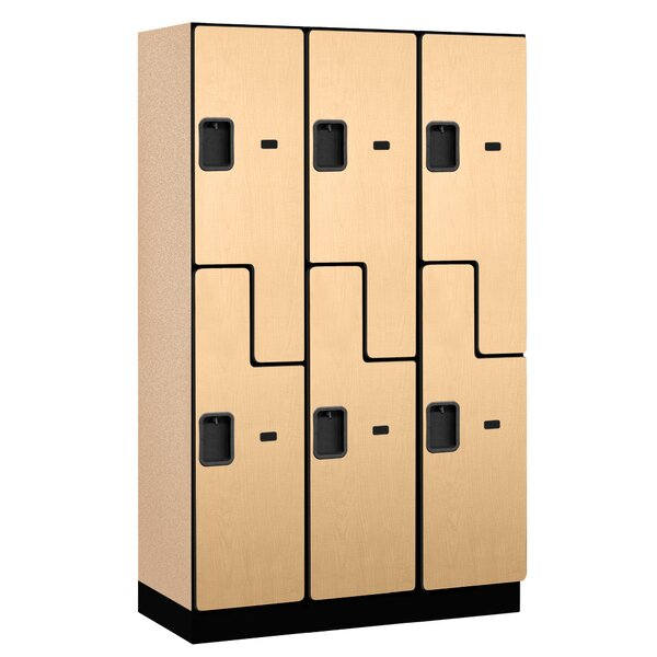 2 Tier 3 Wide Gym and Locker Room Locker by Salsbu