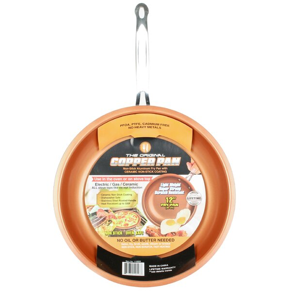 Original Copper Pan Round Nonstick Fry Pan by Master Pan