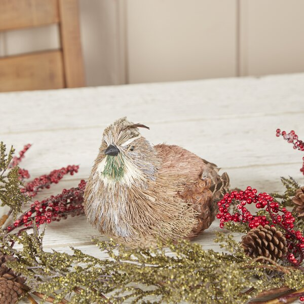 Natural Nesting Quail Decor by Birch Lane™