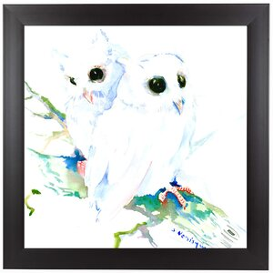 Baby Northern Owls Framed Painting Print by East Urban Home