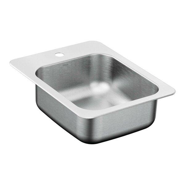 2000 Series 17.31 L x 22.31 W Single Bowl Kitchen Sink by Moen
