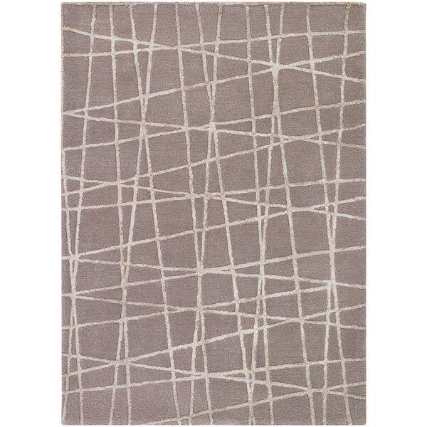 Priscilla Patterned Contemporary Taupe/Beige Area Rug by Corrigan Studio