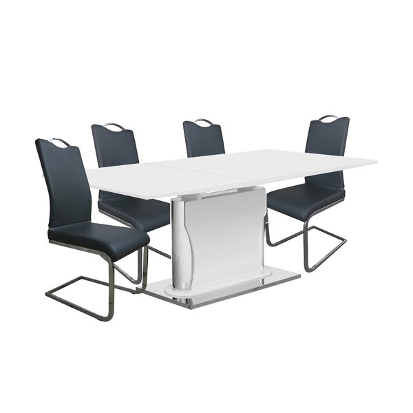Magoon 5 Piece Extendable Dining Set by Orren Ellis