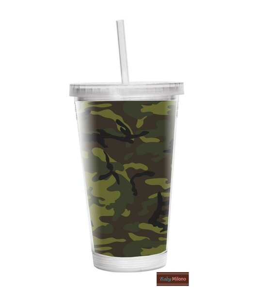 Camo 16 oz. Plastic Travel Tumbler by Baby Milano