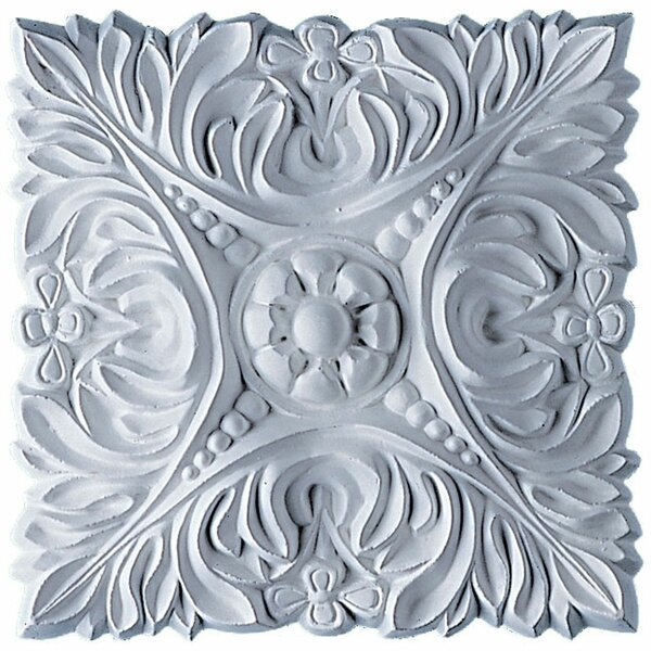 Acanthus 6 1/8H x 6 1/8W x 3/4D Leaf with Beads Rosette by Ekena Millwork