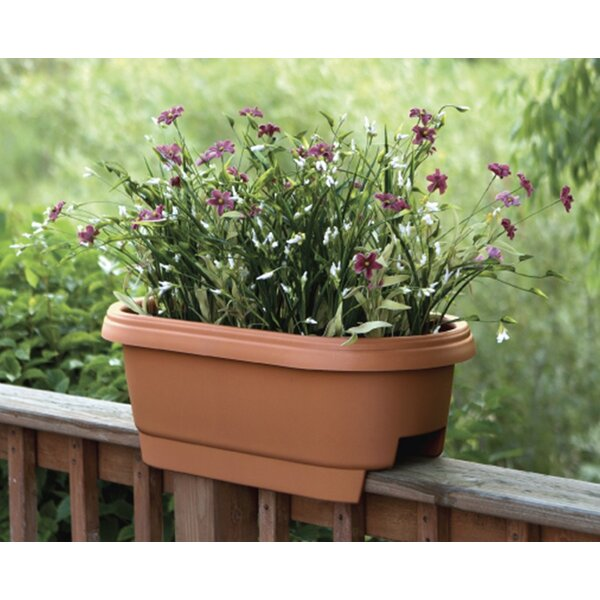 Deck Plastic Rail Planter by Bloem